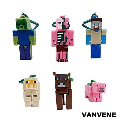 VANVENE Minecraft Toy Action Figure Hanger Set Kingfansion (Series 2) from VANVENE