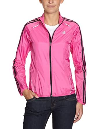 adidas - Cortavientos para mujer, tamaño 38 UK, color intense rosa / negro / claro onix