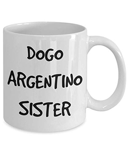 Dogo Argentino Sister Mug - White 11oz 15oz Ceramic Tea Coffee Cup - Perfect For Travel And Gifts 2