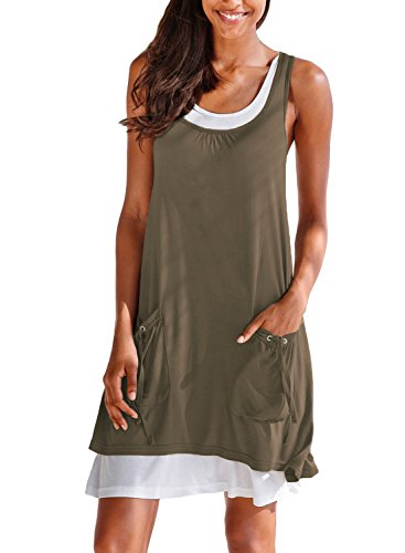 Casual Tank Dress with Pockets
