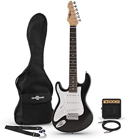 Guitarra Electrica LA 3/4 Zurda + Mini Amplificador - Negro: Amazon.es: Instrumentos musicales
