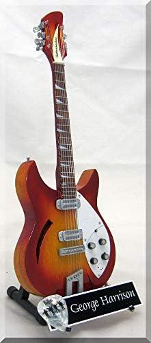 George Harrison Fireglo - Guitarra en miniatura (12 cuerdas con ...