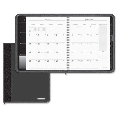 AT-A-GLANCE Executive Monthly Planner 2015, Wirebound, 6.88 x 8.75 Inch Page Size, Black (70-N547-05)