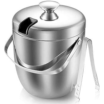 Amazon.com: Homdox Ice Bucket Stainless Steel Ice Buckets ...