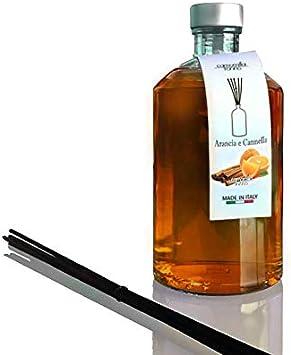 Difusor de perfume cilíndrico 500 ml. Naranja y canela ...
