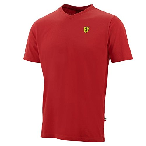 Ferrari Red Shield Vneck Tee Shirt - Ferrari Shop