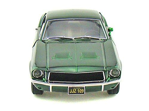 1968 Ford GT Fastback Bullitt 1/18 Steve McQueen Green Chrome
