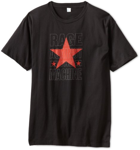 n's Rage Against The Machine Stacked Star Slim Fit T-Shirt, Black, Large ()