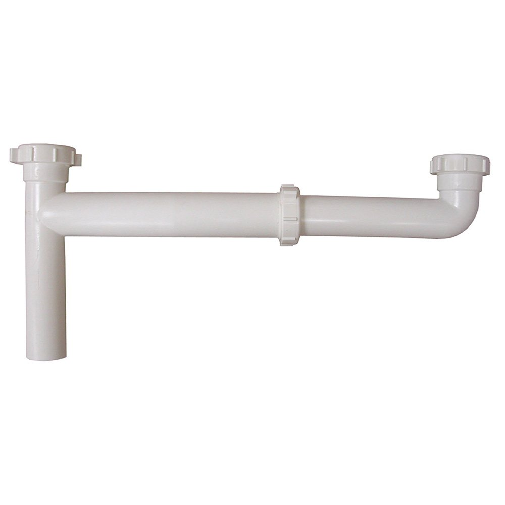 Jones Stephens, JS 1-1/2'' x 16'' PVC Slip Joint End Outlet Waste with Adjustable Arm - P37034