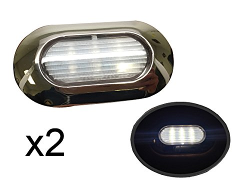 2 of Pactrade Marine Boat Nature White Light 6 LED SS304 Housing Surface Mount 22LM IP67