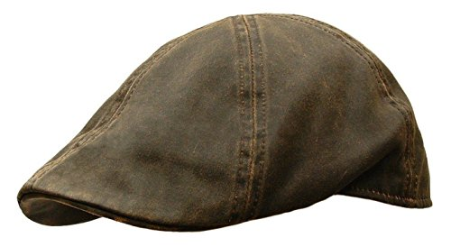 Weathered Cotton duckbill newsboy Gatsby Cap Golf IVY Hat Brown (Large/X-Large) (Duckbill Cap)