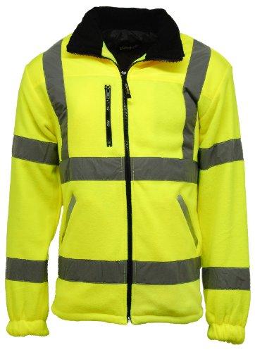Homme Visibilité Pour Sécurité Doublure Polaire Veste Haute De Yellow À 0wfIqZgBx