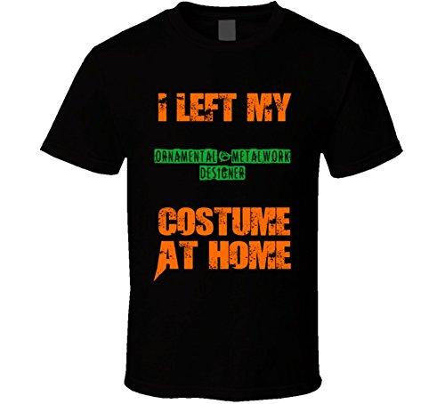 Left Ornamental-Metalwork Designer Halloween Costume At Home Occupation T Shirt 2XL Black