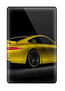 New Ulysses Elliott Super Strong 2012 Techart Porsche 911 Rear And Side Yellow Cars Porsche Tpu Case Cover For Ipad Mini/mini 2