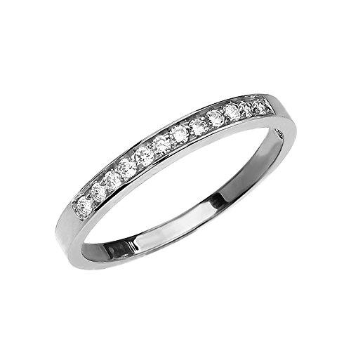Diamond 10k White Gold Elegant