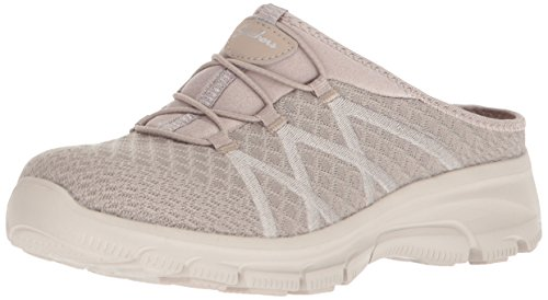 Skechers Women's Knitty Gritty-Knit Bungee Version of The Easy Going-Repute Mule, Taupe, 7.5 M US