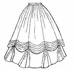 Victorian Skirts | Bustle, Walking, Edwardian Skirts 1860s Ball Gown Skirt Pattern                               $10.00 AT vintagedancer.com