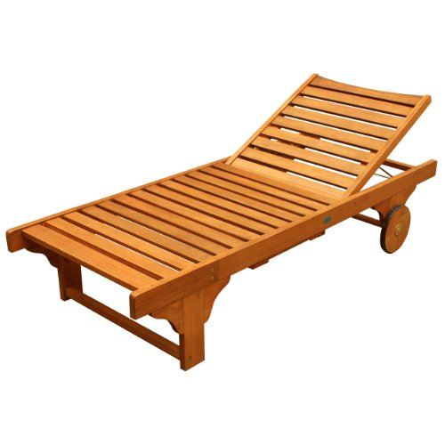 LuuNguyen - Lindy Chaise Lounge Hardwood Outdoor Furniture (Natural Wood Finish)