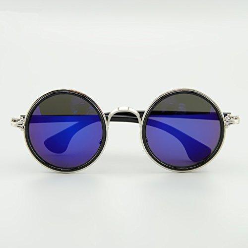 cadre X412 amp; ronde lunettes de Lens personnalité protection lentille rétro Couleur amp;Lunettes Grand de soleil Prince 1 2 WqY1rI6q