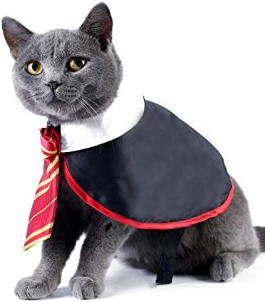 Impoosy Halloween Cat Costume Small Dog Wizard Pet Clothes Cute Apparel Puppy Shirts with Glasses 17