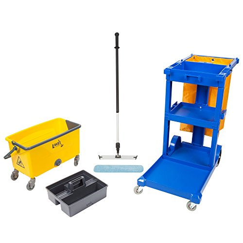 Microfiber Cart Janitor (Janitor Cart and 18