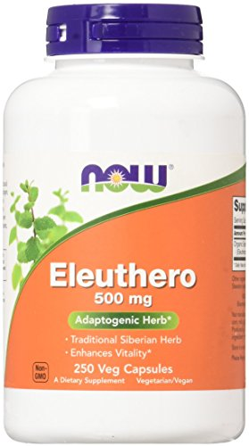 Now Foods Eleuthero 500mg, 250 Capsule