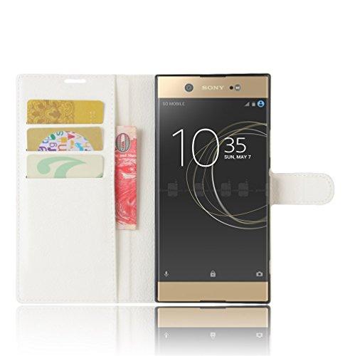 Funda Sony Xperia XA1 Ultra,Manyip Caja del teléfono del cuero,Protector de Pantalla de Slim Case Estilo Billetera con Ranuras para Tarjetas, Soporte Plegable, Cierre Magnético A