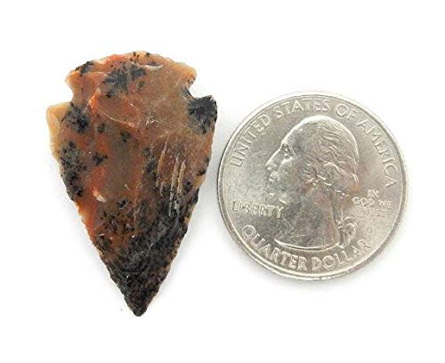 "Jasper Arrowhead - Bag Of 25 Arrowheads Replica Modern- 1"" Jasper Arrowheads RP Exclusive COA (AM5B1)"