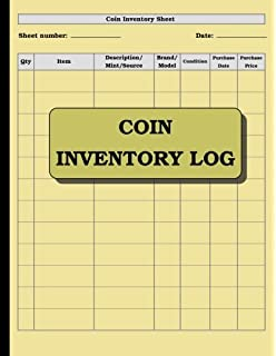 coin collecting inventory log journals for all 9781520883618