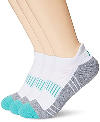 Women's Athletic No Show Socks, Kold Feet 3 Pack Cushioned Ankle Low Cut Tab Running Socks with COOLMAX Wicking Fiber