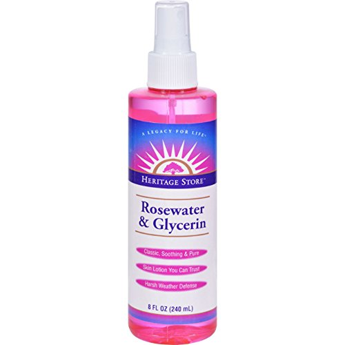 Heritage Products Rosewater and Glycerin - Skin Lotion You can Trust - 8 fl oz (Pack of 3)