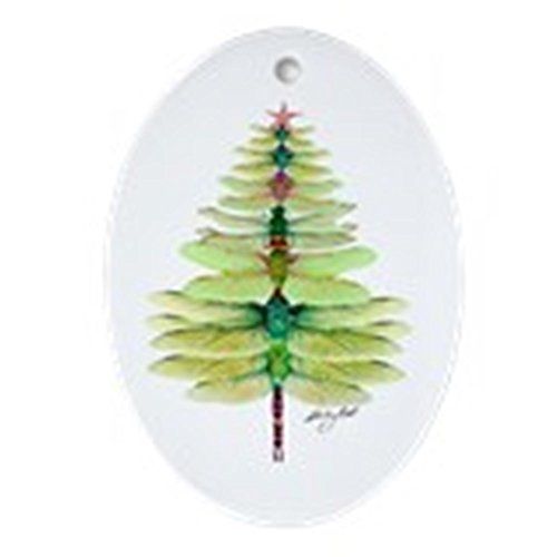 CafePress Dragonfly Oval Holiday Christmas Ornament (Oval Dragonfly Ornament)