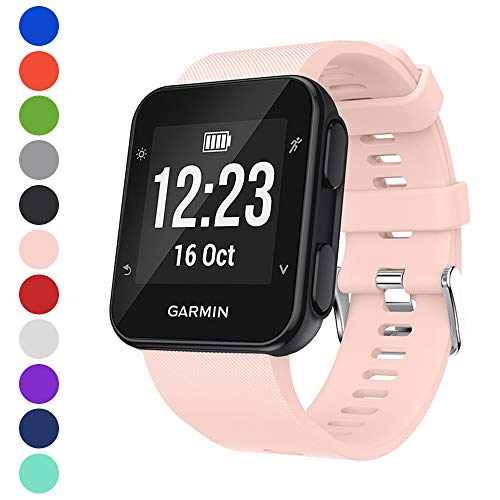 Watbro Band Compatible with Garmin Forerunner 35, Soft Silicone Watch Band Replacement Strap, for Garmin Forerunner 35 Smart Watch, Fit 5.11-9.05 Inch (130mm-230mm) Wrist