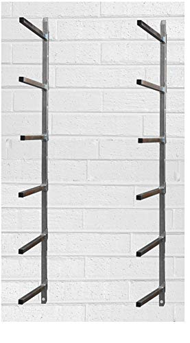Manufacturer's Manufacturer, Inc. Bumper Parts Lumber Storage Rack, 6 Place Wall Mount Stationary