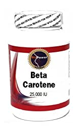 Beta Carotene 25,000 IU 200 Capsules #BioPower Nutrition