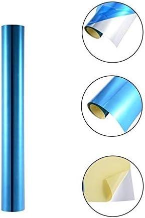 con pellicola protettiva blu rettangolo in PET fai da te 1 m specchi decorativi sostitutivi per specchio in vetro specchio riflettente autoadesivo da parete Adesivo da parete a specchio