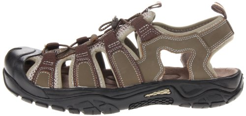 Sport Safaris browntan 8 M Skechers Journeyman Men's Sandal L4R35Aj