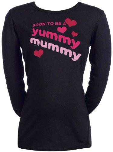 (Spoilt Rotten - Soon To Be A Yummy Mummy - Women's Pregnancy T-Shirt BLACK, XXL)