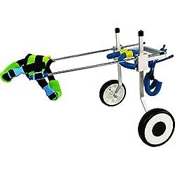 Dog Pet Wheelchair Dog Wheelchair - Wheelchair for Back Legs, Hind Legs Rehabilitation Aluminium Material for Handicapped Dog Pet/Cat, 2 Wheels Dog Pet Stroller (Color : M)