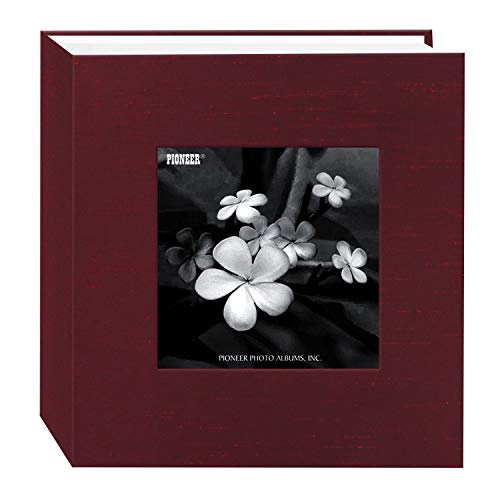 Pioneer Photo Albums 100 Pocket Cranberry Silk Fabric Frame Cover Photo Album for 4 by 6-Inch Prints -