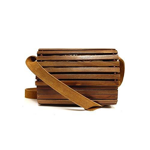 Wood Shoulder Crossbody Bag...
