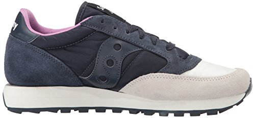 Originali Di Saucony, Sneaker Da Donna Jazz Originale, Crema Color Corallo, Media Blu Crema