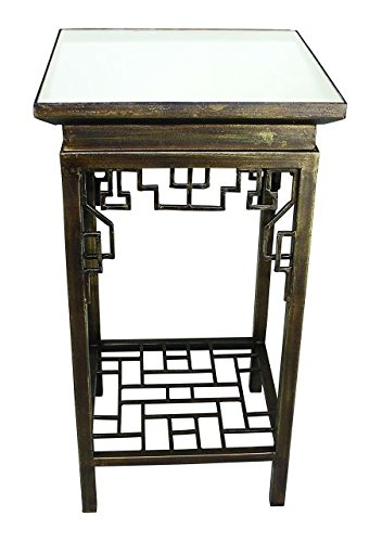 huge discount 4edd8 761fd Amazon.com: Asian Art Deco Brass Side Table | Square ...