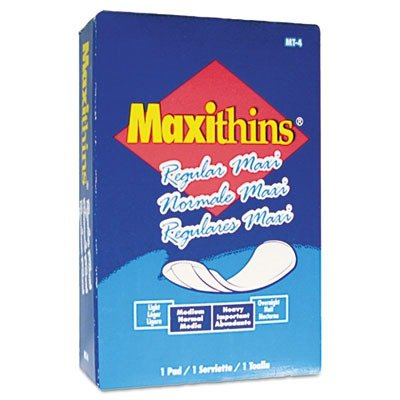 Hospital Specialty MT4FS Maxithins Sanitary Pads (Pack of 100) - Folded Maxithins Pads