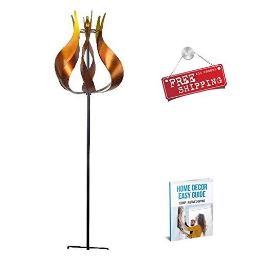 Yard Wind Spinner Large Outdoor Garden Metal Flower Wind Spinner Tall & eBook by AllTim3Shopping