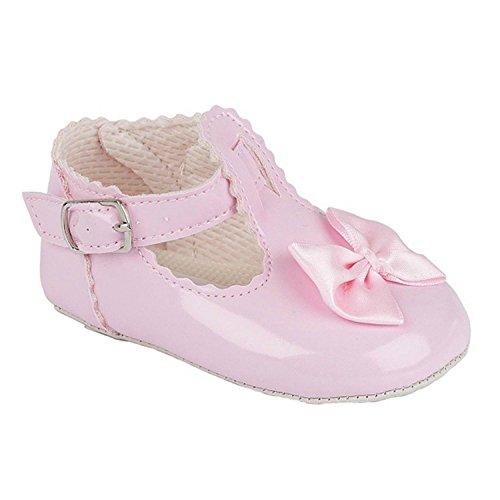 Taufschuhe Baby Schuhe Leder Lackleder Sandalen Taufe Hochzeit Mädchen rosa Rosa