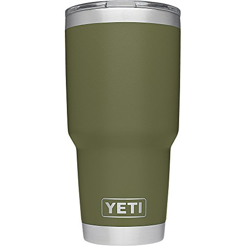 YETI Rambler Stainless Steel Vacuum Insulated Tumbler with Lid, Olive, 30 oz. by YETI