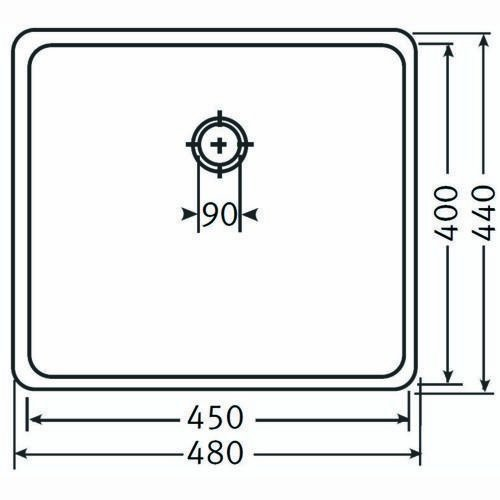 FRANKE 122.0073.488 KBX 110-45 /Évier en acier Soie INOX