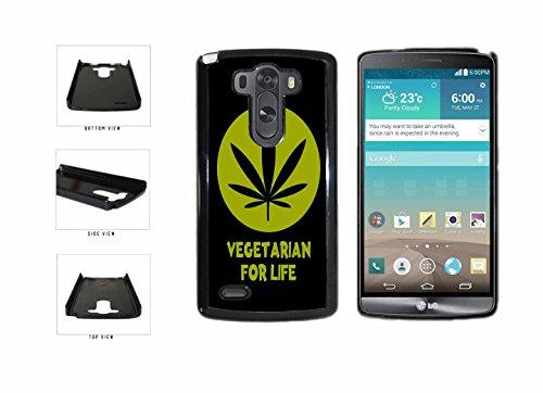 Weed Marijuana Vegetarian For Life Plastic Phone Case Back Cover LG G3