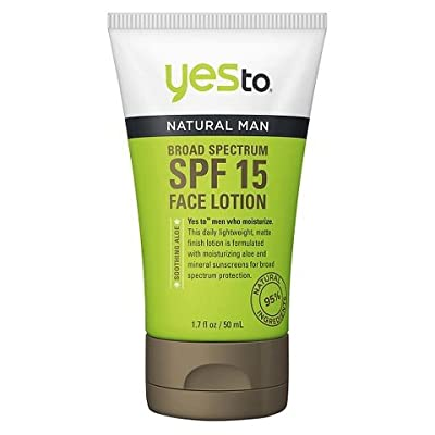 Yes to Men's Face Moisturizer SPF 15 1.7oz